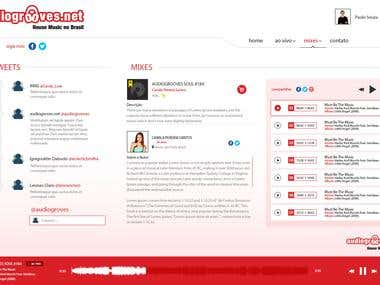 Áudio Grooves, Área restrita - Multimídia
