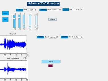 MATLAB GUI of Audio Equalizer