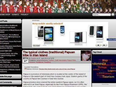 Blog Indonesian-Stuff in WordPress