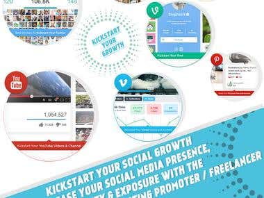 Kickstart Your Social Growth Increase your SM  Presence .
