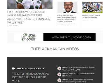 Website Design Portfolio - theblackmancan.org