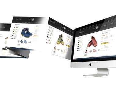 Online Store Web Page Design