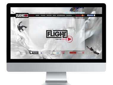 Website Red Bull Art of flight