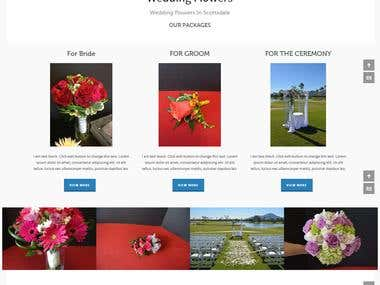 It\\\'s a Website for wedding flowers