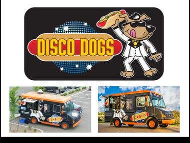 Cartoon artwork for Mobile Food Van