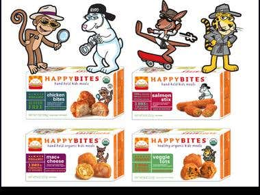 Cartoon Artwork for Food Packaging