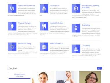 Accurate Clinic Wordpress website