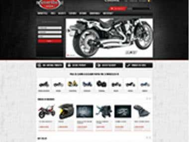 Motoriders.ro - Magento based ecommerce