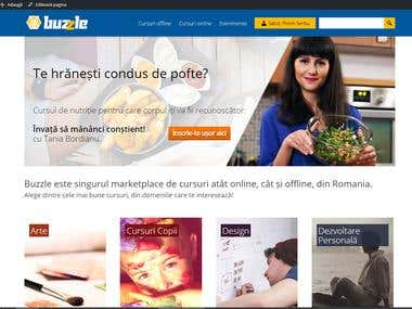 buzzle.ro - wordpress online courses platform