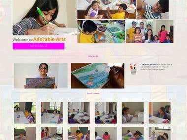 Adorable Arts | Website Design and Development