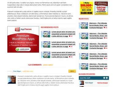 Custom Blog design for BloggingTips