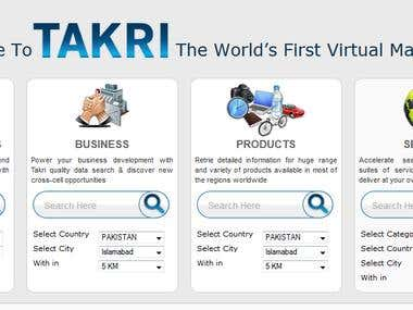 Takri Business Search Website