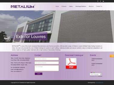 metalium.in | Website Design and Development