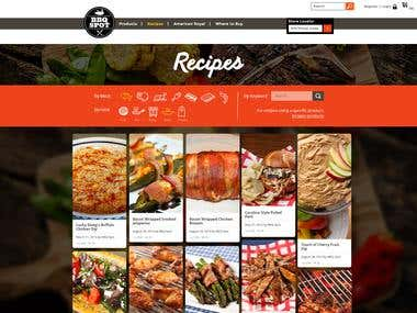 Website Design - Recipes