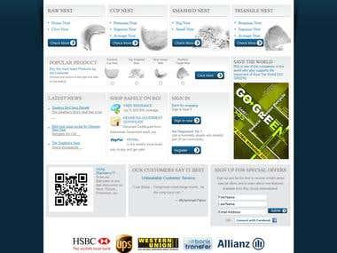 Custom CMS for online store