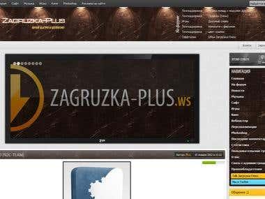 Zagruzka-Plus website development