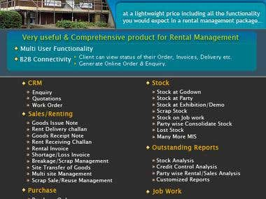 An ERP for Rental Industries