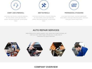 car garage and repairing  shop html template