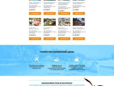 Landing Page for Travel Agency (Goa destination)