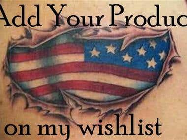 Amazon Product or ebook wishlist