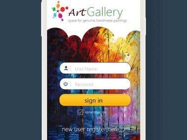 UX Design- ArtGallery App