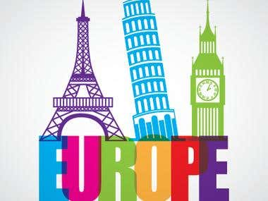 Europe Typographical Logo