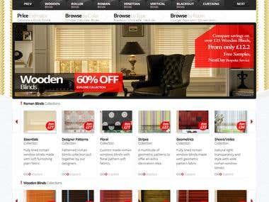 Bespoke Blinds Selling Website