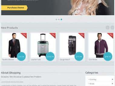 Online wear shop