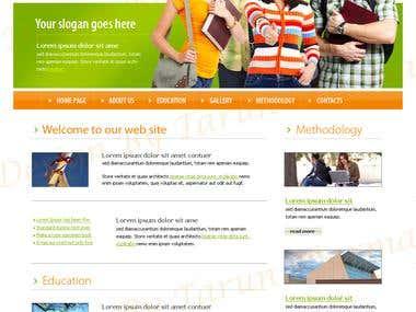 Mockup design & Landing page