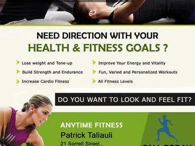 Flyer design for Gym Center
