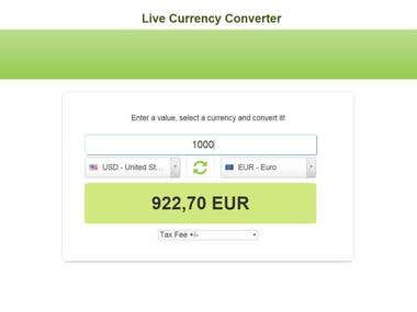 Live Currency Converter