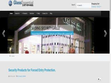 E-commerce  develop   (http://www.glassessential.com/)