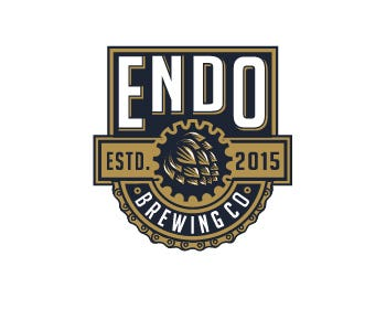 Endo Brewing Co. logo design