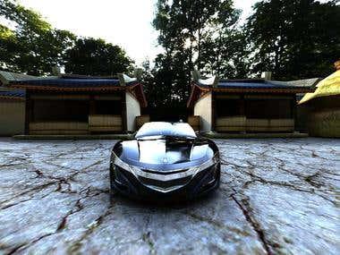3D animation maya Pickup In acura