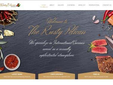 The Rusty Pelican restaurant website