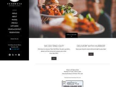 Restaurant website with admin pane