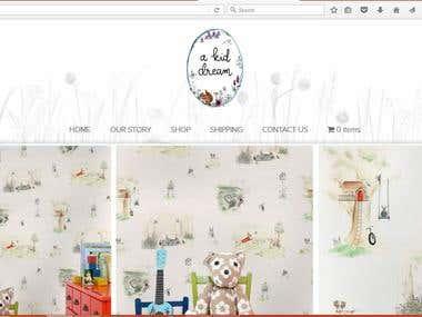 kid dream e-commerce project