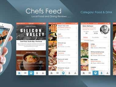 chefs feed iPhone UI design