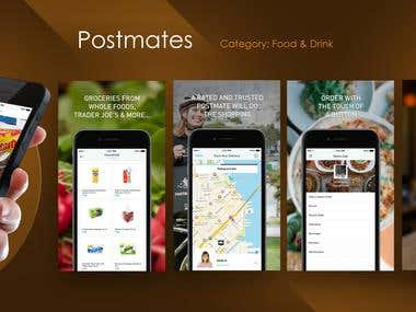 Postmates iPhone UX/UI design