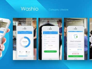 Washio iPhone UX/UI design