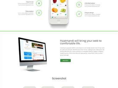 Hath Mandi Website Design