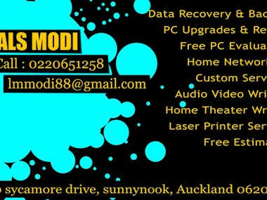 Business card for Lals Modi