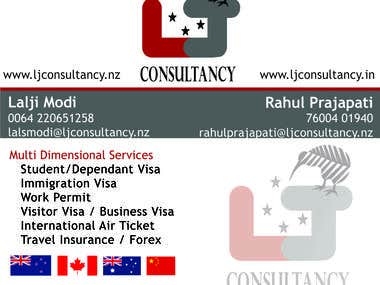 Business card for LJ Consultancy