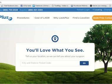 website design for a doctor