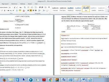 R programming language homework