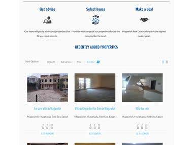 Website for real estate - Wordpress