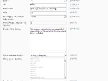 Customize Magento Site