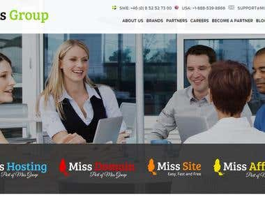 Servers and WHMCS administration for MissGroup Ab Hosting