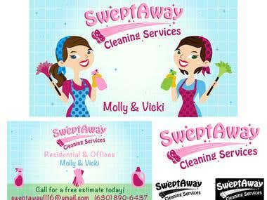 business card for cleaning company