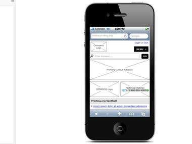 Wireframe - Iphone Apps